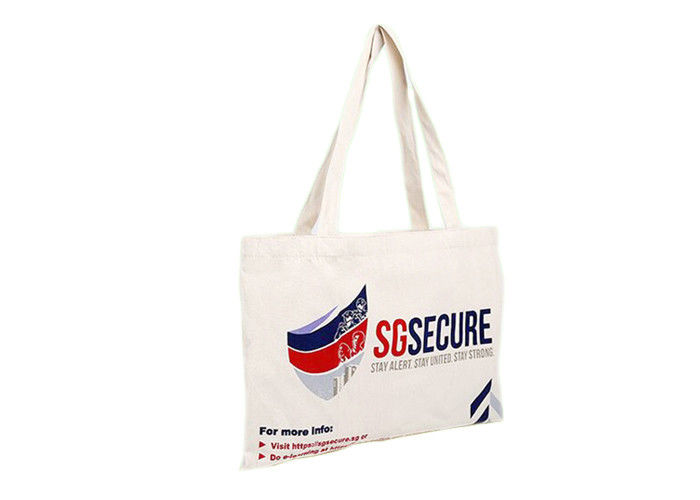 LOGO Printed Promotional Shopping Bags Organic Cotton Canvas Tote Bag
