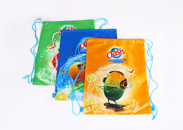 Waterproof Polyester Drawstring Bag Custom LOGO Printed Promotional Grocery Bags