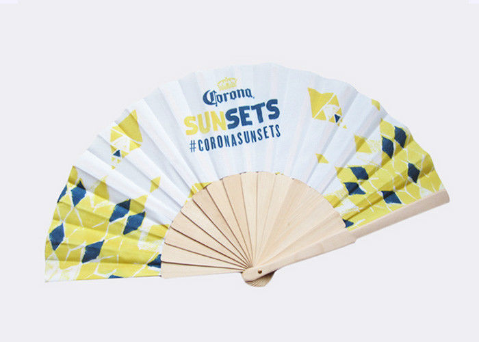 Portable Wooden Hand Fan Cute Folding Hand Fan For Adults / Kids